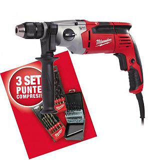 KIT MILWAUKEE TRAPANO PD2E24RKIT1 + 3 SET PUNTE